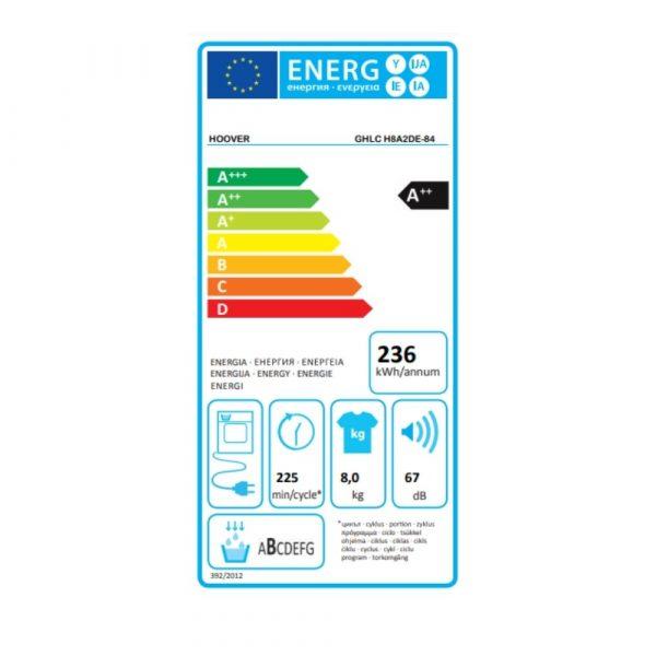 hoover-GHLC-H8A2DE-84-asciugatrice-energy-label