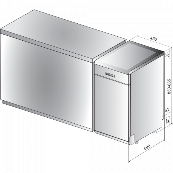 indesit-dsfe-1b10-s-lavastoviglie-size