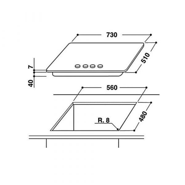piano-cottira-whirlpool-GMA7444IXL-inox-73cm-ixelium-schema-incasso